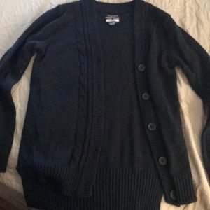 Navy blue Nautica uniform sweater